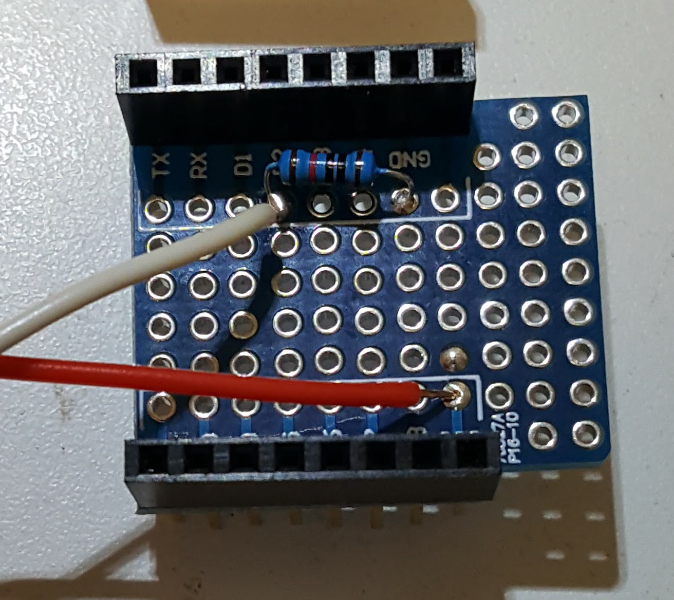 ProtoBoard with door switch connection