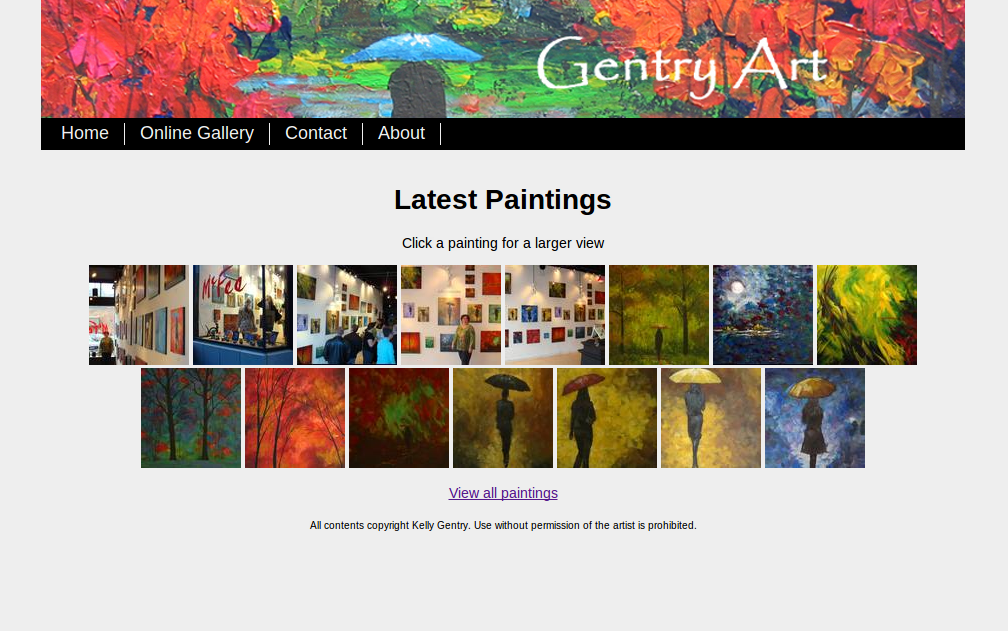Gentry Art Gallery Screen Shot